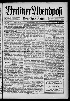 Berliner Abendpost on Apr 8, 1891