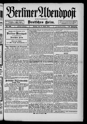 Berliner Abendpost on Apr 17, 1891