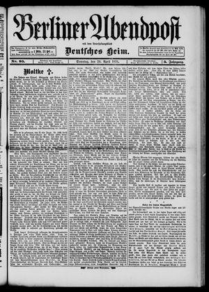 Berliner Abendpost on Apr 26, 1891