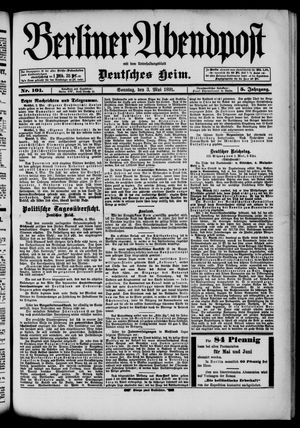 Berliner Abendpost on May 3, 1891