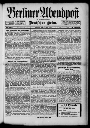 Berliner Abendpost on May 5, 1891