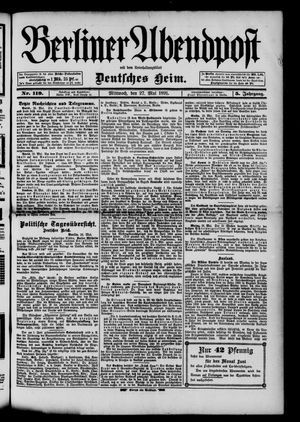 Berliner Abendpost on May 27, 1891