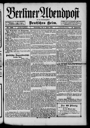 Berliner Abendpost on Jun 4, 1891