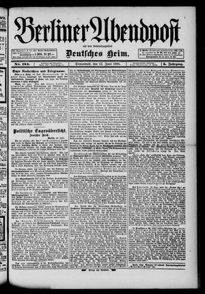 Berliner Abendpost on Jun 13, 1891