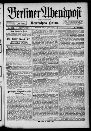Berliner Abendpost on Jun 17, 1891