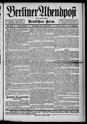 Berliner Abendpost on Jun 25, 1891