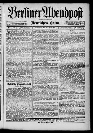 Berliner Abendpost on Jun 27, 1891