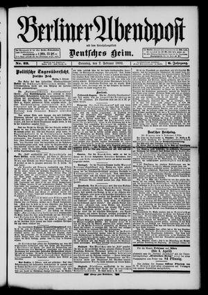 Berliner Abendpost on Feb 7, 1892