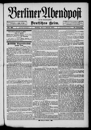Berliner Abendpost on Feb 9, 1892