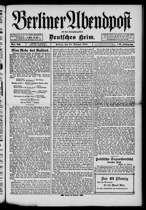 Berliner Abendpost on Feb 26, 1892