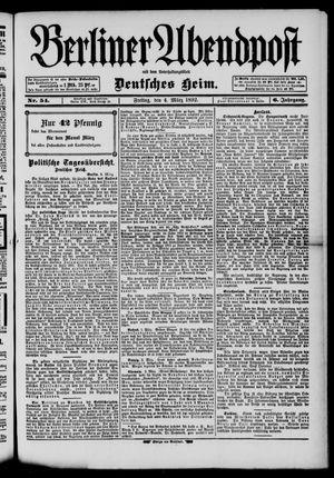 Berliner Abendpost on Mar 4, 1892