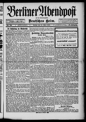Berliner Abendpost on Mar 25, 1892