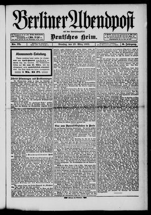 Berliner Abendpost on Mar 29, 1892