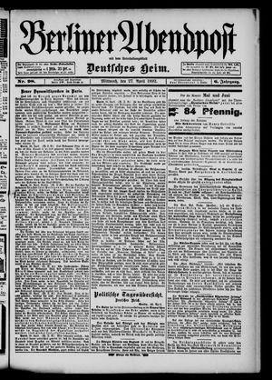 Berliner Abendpost on Apr 27, 1892