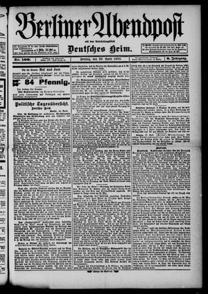 Berliner Abendpost on Apr 29, 1892