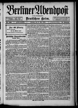 Berliner Abendpost on May 31, 1892