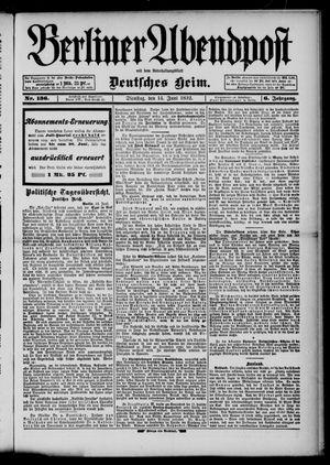 Berliner Abendpost on Jun 14, 1892