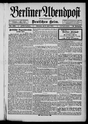 Berliner Abendpost on Jul 6, 1892