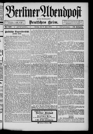 Berliner Abendpost on Jul 8, 1892