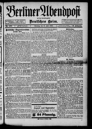 Berliner Abendpost on Jul 31, 1892
