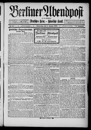 Berliner Abendpost on Jan 5, 1893