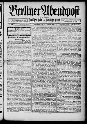 Berliner Abendpost on Jan 14, 1893
