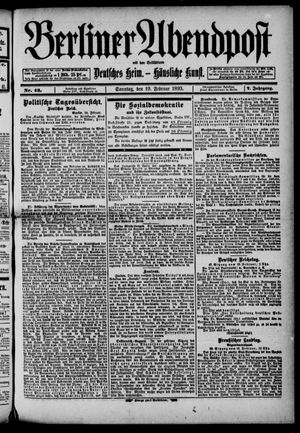 Berliner Abendpost on Feb 19, 1893
