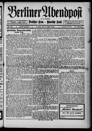 Berliner Abendpost on Apr 14, 1893