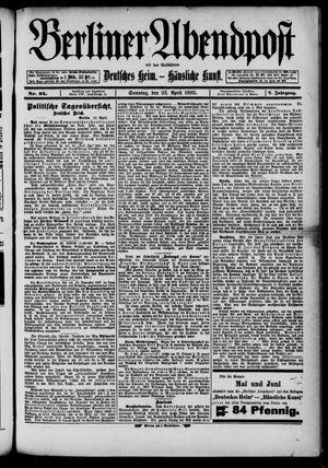 Berliner Abendpost on Apr 23, 1893