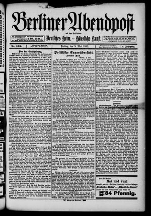 Berliner Abendpost on May 5, 1893