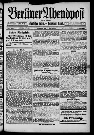 Berliner Abendpost on May 7, 1893