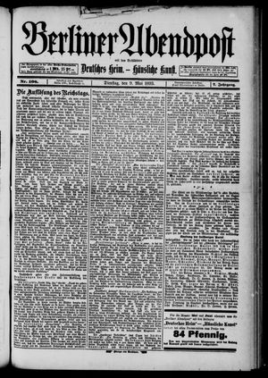 Berliner Abendpost on May 9, 1893
