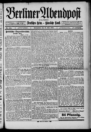 Berliner Abendpost on May 13, 1893