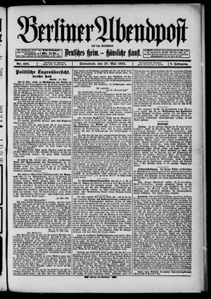 Berliner Abendpost on May 20, 1893