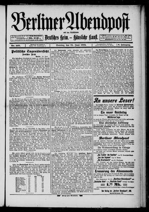 Berliner Abendpost on Jun 25, 1893