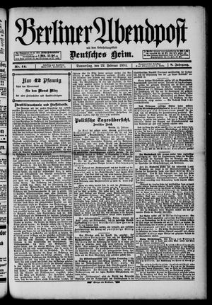 Berliner Abendpost on Feb 22, 1894