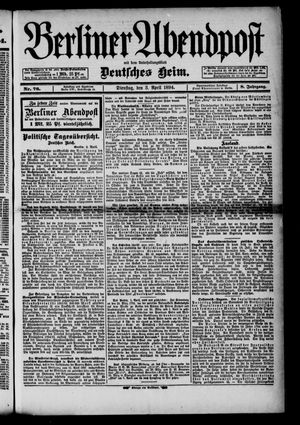 Berliner Abendpost on Apr 3, 1894