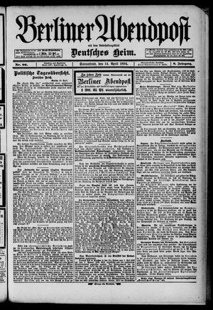Berliner Abendpost on Apr 14, 1894