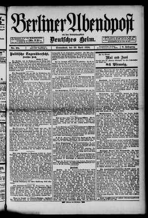 Berliner Abendpost on Apr 28, 1894