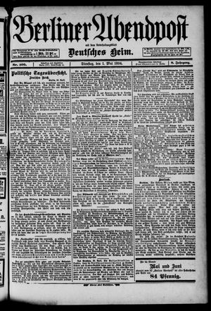 Berliner Abendpost on May 1, 1894