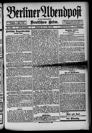 Berliner Abendpost on May 9, 1894
