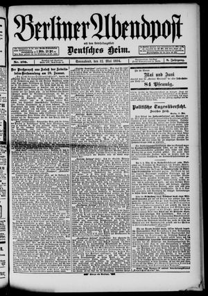 Berliner Abendpost on May 12, 1894
