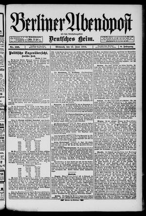 Berliner Abendpost on Jun 13, 1894
