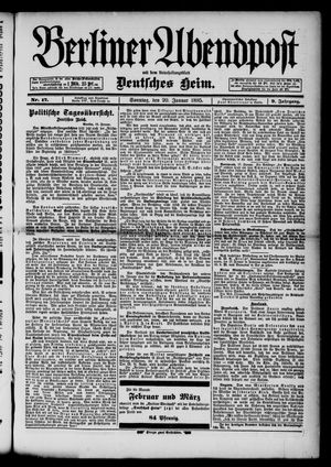 Berliner Abendpost on Jan 20, 1895