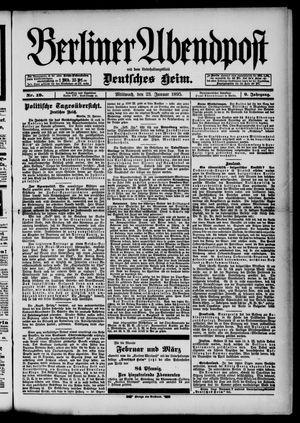 Berliner Abendpost on Jan 23, 1895