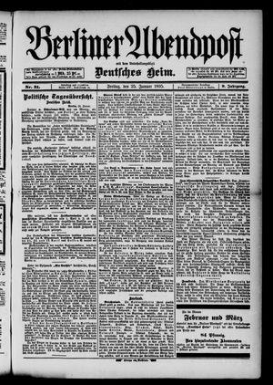 Berliner Abendpost on Jan 25, 1895