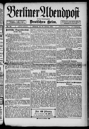 Berliner Abendpost on Feb 20, 1895