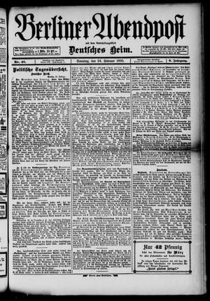 Berliner Abendpost on Feb 24, 1895