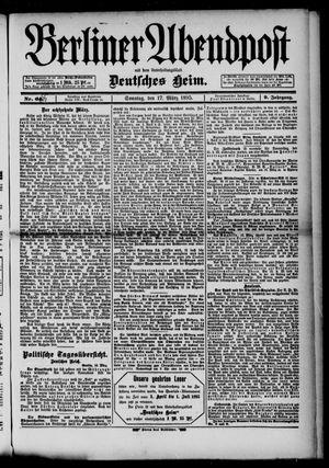 Berliner Abendpost on Mar 17, 1895