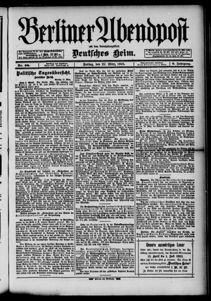 Berliner Abendpost on Mar 22, 1895